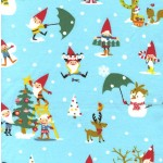GNOME FOR THE HOLIDAYS ON COTTON FLANNEL
