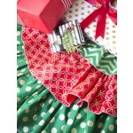 Holiday Glitz Ruffled Tree Skirt