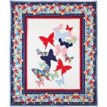 """Flutterby Quilt Designed by Emily Herrick, Quilted by Nancy Iacono / 73""""x98"""""""