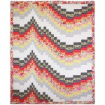 """Freefall Quilt Designed by Grizzly Gulch Gallery ;Quilted by Jo Hannuksei  / 66""""x81"""""""