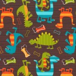 DINO DUDES on Cotton Flannel