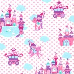 PRINCESS LAND on cotton flannel
