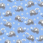 WATER FOR ELEPHANTS on cotton flannel