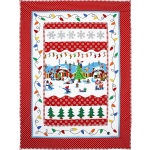 Holly Jolly Gnomes Quilt by Marinda Stewart