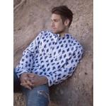 Indigo - Men's Collarless Shirt - uses Burda Patt# 7525
