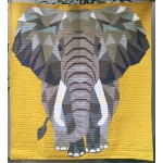 """Jungle Abstractions: The Elephant by Violet Craft  /54""""x60"""""""