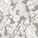 PRINTED COTTON COUTURE   COLOR: MUD