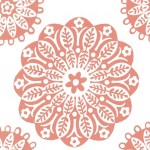 PRINTED COTTON COUTURE   COLOR: TERRACOTTA