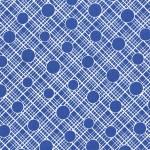 PRINTED COTTON COUTURE  COLOR: BLUE