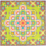 Sewn Seed QUILT by HoopSisters - 2015 EmbroidaBlock of the Month  -    Pattern available at: www.hoopsisters.com