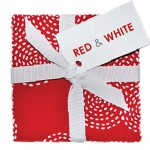 "Red & White 10"" Squares  - 42 pcs."