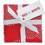 "Red & White 10"" Squares  - 42 pcs."