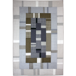 Urban Abstraction Quilt by Marinda Stewart