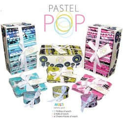 PASTEL POP MULTI - 3 FQs, 6 Rolls, 18 Charmpacks