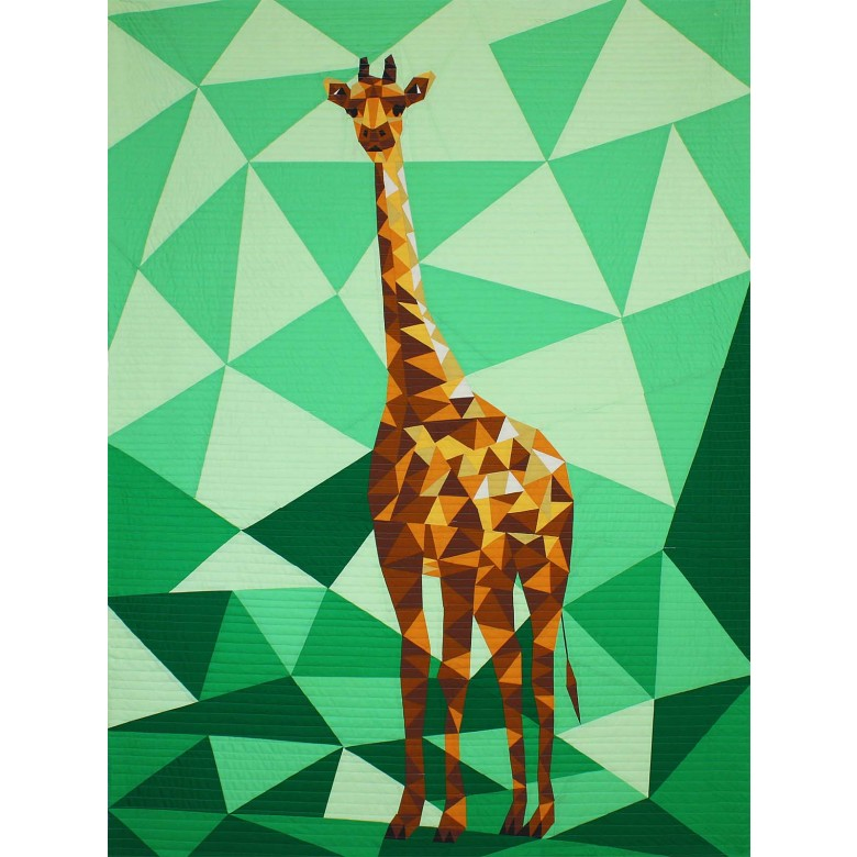 jungle abstractions the giraffe by violet craft