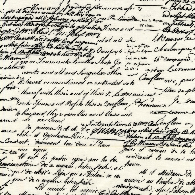 Cx4521 Old Script Black Writing Words Cream The Antiquity