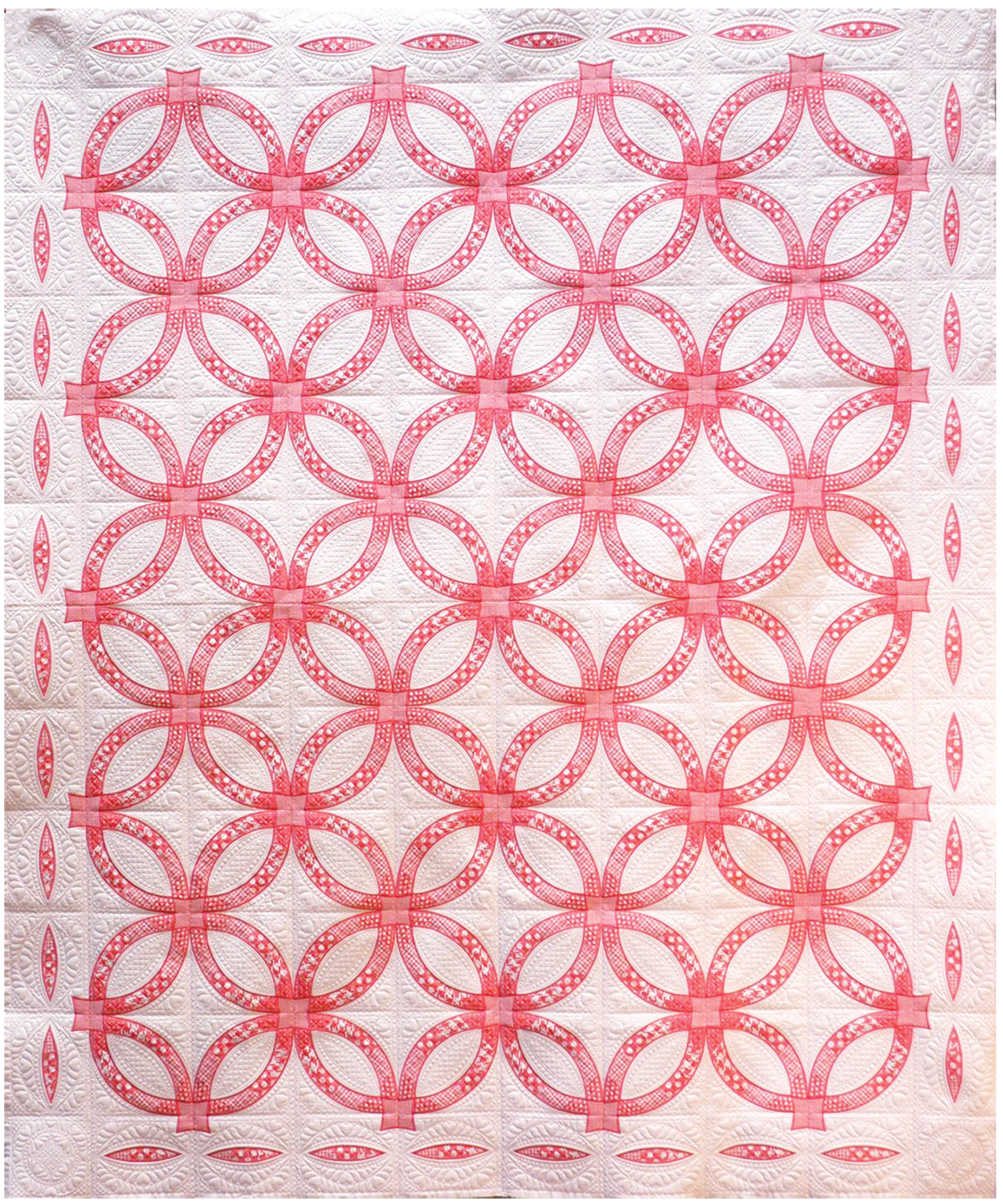 free double wedding ring quilt pattern