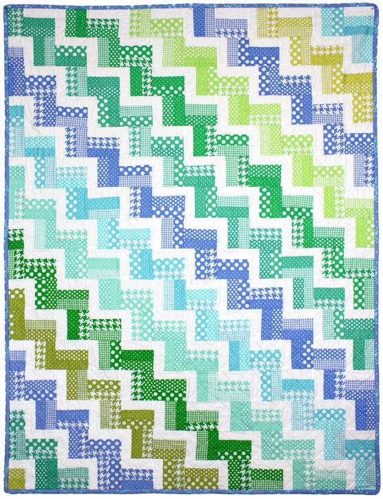 Hello Zig Zag Quilt Pattern : Zig Zag Rail Quilt by Red Pepper Quilts modern basics