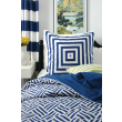 Trenna Travis Bekko Inspiration - navy pillow and curtains