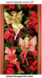 HOLIDAY FAIRIES PANEL - NOT FOR PURCHASE BY MANUFACTURERS