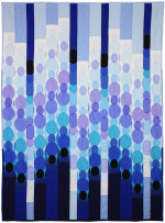 Blue Raindot Bargello  by Marinda Stewart
