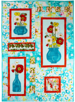 Gathered Poppies Quilt by Marinda Stewart