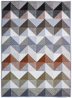 High and Low Neutral Quilt by Marinda Stewart