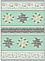 """Lovely Llamas Quilt by Heidi Pridemore / 51x70"""""""