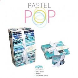 PASTEL POP AQUA - 2 FQs, 4 Rolls, 12 Charmpacks