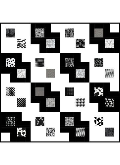 Black and White Quilt by Susan Emory