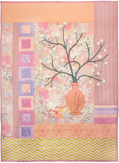 Bokashi Blossoms Quilt by Marinda Stewart