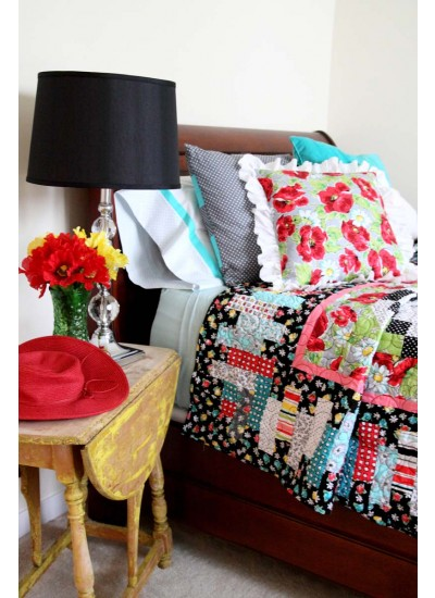 Clubhouse Inspiration -vintage bed photo quilt