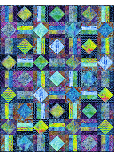 Diamonds at Sea - BATIK Quilt