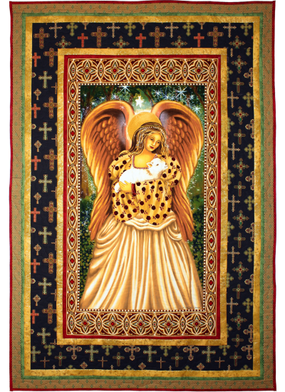 Golden Angel Redux Quilt  by Marinda Stewart
