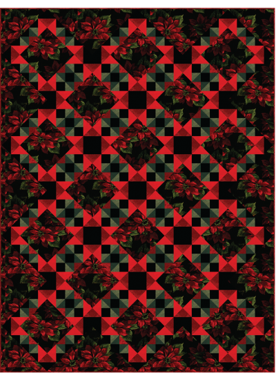 Grand Holiday Quilt by Heidi Pridemore