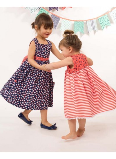 The Littles Navy Sailboats Dress