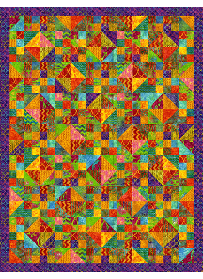 Rings of Color - BATIK Quilt