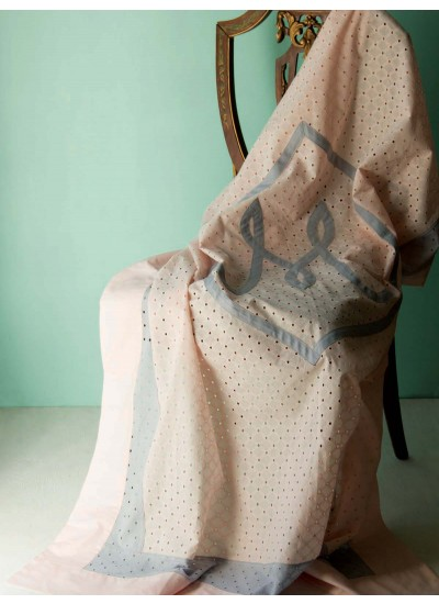 Lattice Eyelet Coverlet