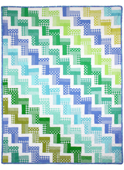 Zig Zag Rail Quilt - NOT A FREE PATTERN