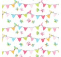 PENNANT PARTY on cotton flannel