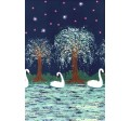 SWAN LAKE - double border on MINKY
