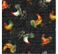 RUSTIC ROOSTERS ON MINKY