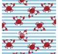 CRABBY STRIPE on MINKY- Contact your account manager to purchase this item