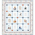 "A Cat's Life Quilt by Wendy Sheppard /63""x71"""