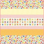 "A Bushel and a Peck MINKY Strip Quilt -57""x57"" - free pattern available in July"