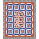 "Animal Bazaar -Coral by Heidi Pridemore  / 64""x76"""