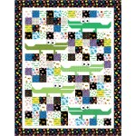 "All the Gator - Animal Alphabet Quilt by Swirly Girls Design - 74""x94"""