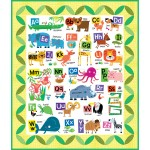 Easy as ABC Panel Quilt by Susan Emory