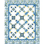 "Provencial April in Paris Blue Quilt by Heidi Pridemore /57.5""x71.5"""