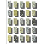 "Shadow Boxes Quilt - Lime Art Nouveau by ladeebug Design 52""x72"""